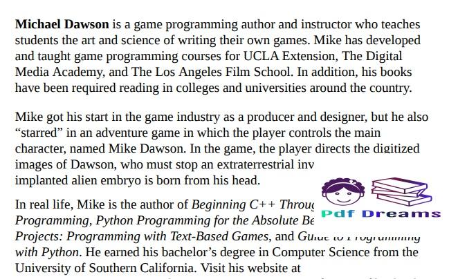 Beginning C++ Through Game Programming by Michael Dawson PDF Download