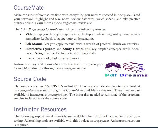 C++ Programming by D. S. Malik PDF Download
