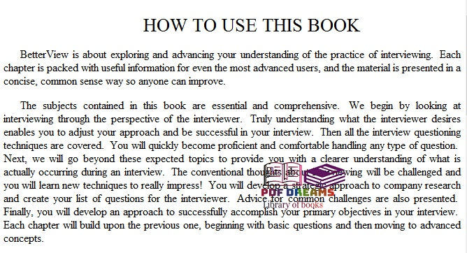 Interview BetterView: A Job Seeker's Essential Guide to Interviewing Skills By Thomas Franke PDF Download